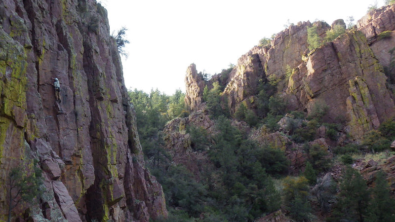 Rock Climbing Photo: Spinous Process, 11a at Isolation Canyon