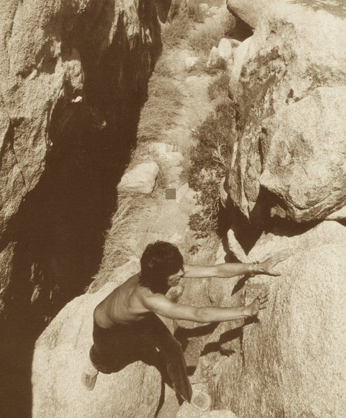 Rock Climbing Photo: Keef (Keith Richards) cranks the stone!   ...........