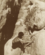 Keef (Keith Richards) cranks the stone!  <br /> <br />........bouldering at Joshua Tree back in '69.......chalkless, no pad, of course