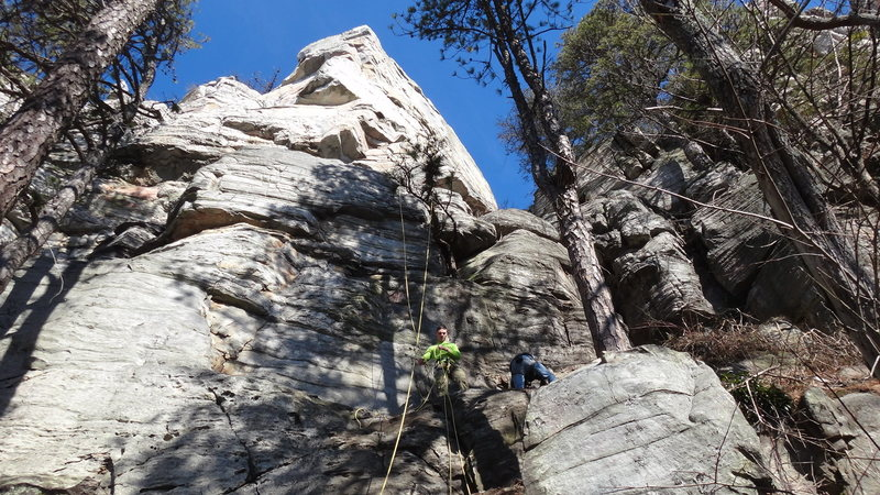 "Rock Climbing Photo: ""Big Arete"" from trail's perspective.  R..."