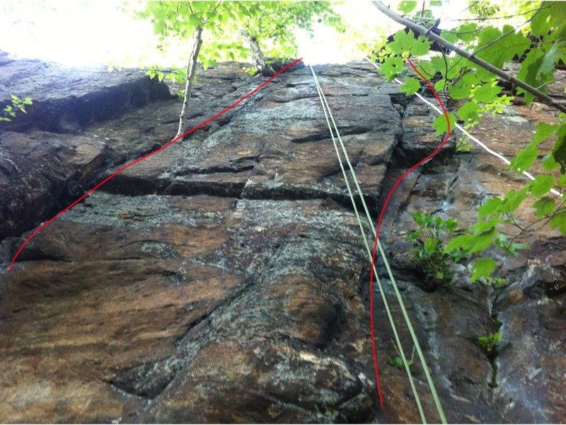 Rock Climbing Photo: Krassy is on the right hand side. Left is Meryl's ...