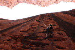 Rock Climbing Photo: Climbing 1/2 Route/Unknown at South Fork in Zion 4...