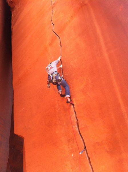 Rock Climbing Photo: Anunnaki crack. 5.12