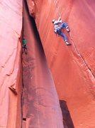 Rock Climbing Photo: Anunnaki Crack 5.12 and Mudslide Crack 5.10+