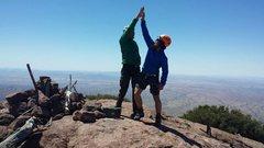 Rock Climbing Photo: Summiting Baboquivari with Jesper Devantier (Danis...