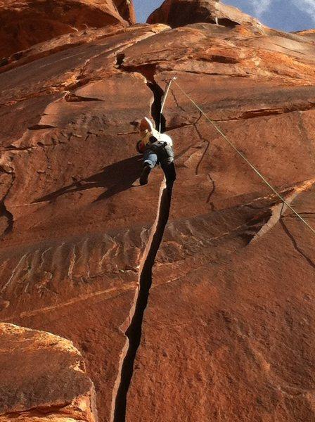 Rock Climbing Photo: New Offwidth 5.11+ called Bros
