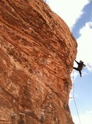 Rock Climbing Photo: Yet another burn on Caustic on Cannibal Crag in Re...