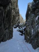 Rock Climbing Photo: The chimney on pitch 5.