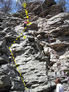 Rock Climbing Photo: Scramble to bolt/to some fun climbing above, short...