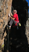 Rock Climbing Photo: Starting the route Golden Years(5.13a)