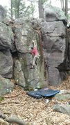 Rock Climbing Photo: Using jam, reach for a solid crimp