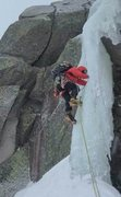 Rock Climbing Photo: First pitch of mini pinnacle, Mt Katahdin