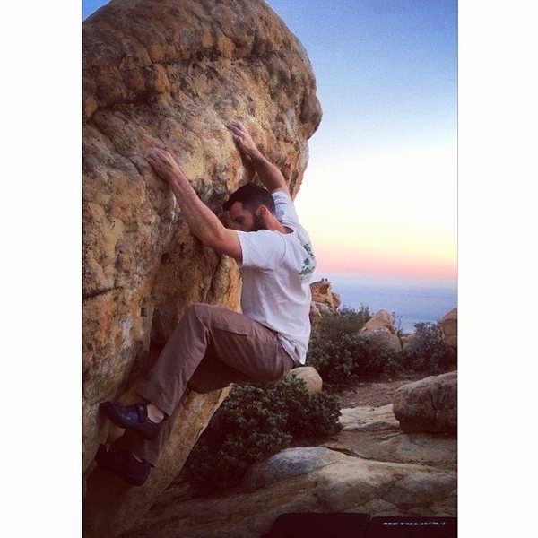Rock Climbing Photo: Johnnie Big Mouth during a beautiful, clear sunset...
