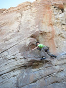 Rock Climbing Photo: Brad clipping the first piece of gear on The Lobst...
