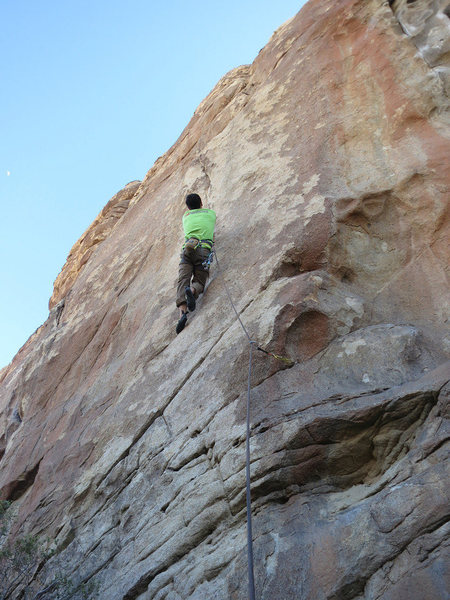 Brad at the crux section of The Lobster.