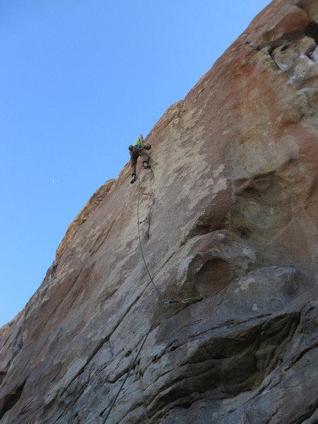 Rock Climbing Photo: Brad leading The Lobster.