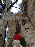 Rock Climbing Photo: John and Joe scoping out the lines