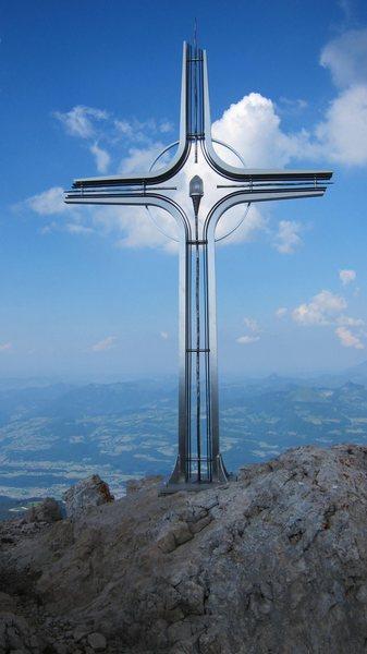 Gipfelkreuz (summit cross) on the Hoher Göll.