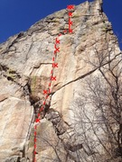Rock Climbing Photo: Palming Baby Heads, 5.12b.