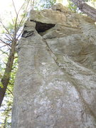 Rock Climbing Photo: Looking up from the base of No Time to Linger.