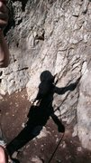 Rock Climbing Photo: Belay silhouette on Chupacabra in Rock Canyon.