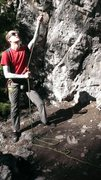 Rock Climbing Photo: Belaying Chupacabra in Rock Canyon.