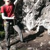 Belaying Chupacabra in Rock Canyon.