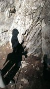 Rock Climbing Photo: Belay silhouette at Chupacabra in Rock Canyon