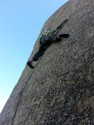 Rock Climbing Photo: Rest before the crux sequence begins