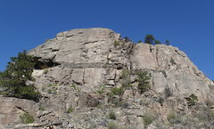 Rock Climbing Photo: Banded Wall (SW Face) from the base.