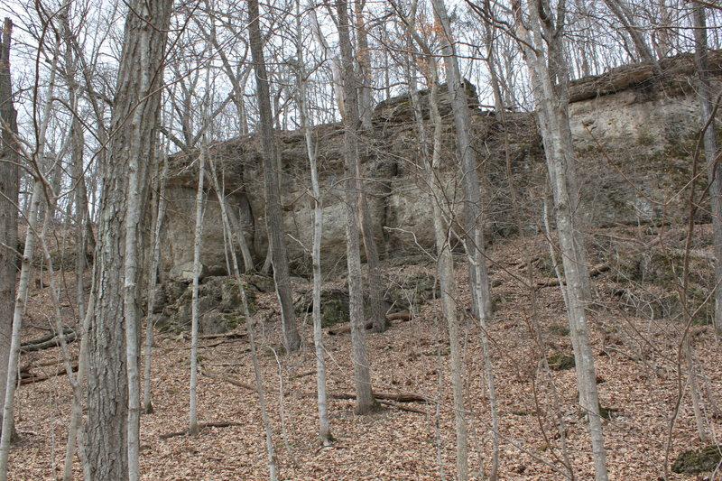 Rock Climbing Photo: Wild Iowa in April