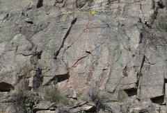 Rock Climbing Photo: South face - lower wall