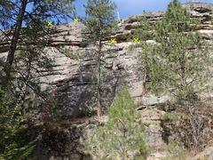 Rock Climbing Photo: Right side topo