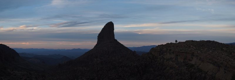 looking back at Weavers Needle