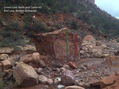 Rock Climbing Photo: Beta for Broken Arrow and Keith and Camo.