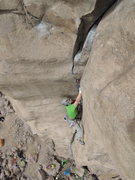 Rock Climbing Photo: Alex on Silver Bullet!