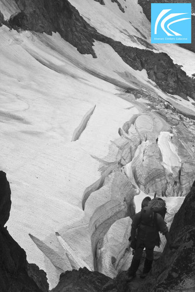Up the gully from Stuart Glacier