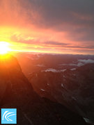 Rock Climbing Photo: The best sunset in the mountains: after the storm ...