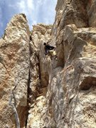 Rock Climbing Photo: Marcus winning the battle