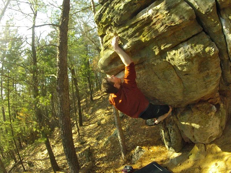 Rock Climbing Photo: Left Corner Problem
