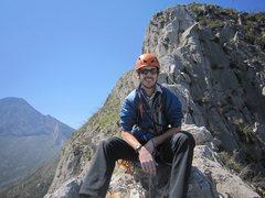 Rock Climbing Photo: Just below the summit of Timewave Zero at El Potre...