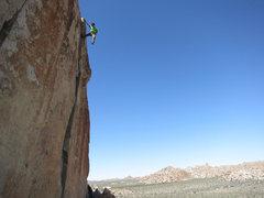 Rock Climbing Photo: Brad soloing O'Kelley's Crack.
