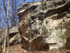 Rock Climbing Photo: Anvil Center Left Sit Down Start 25 Feet, consider...