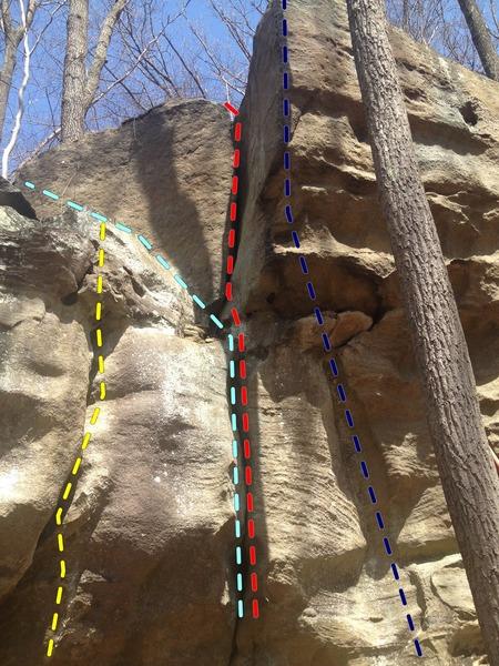 Rock Climbing Photo: Cracks So Easy 15 - 25 feet