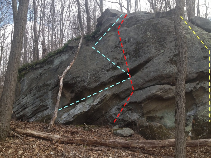 Rock Climbing Photo: Fern Ridge 10-15 feet Long traverse, maybe some sl...