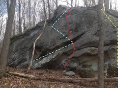 Rock Climbing Photo: Fern Ridge 10-15 feet Long traverse, maybe some sl...