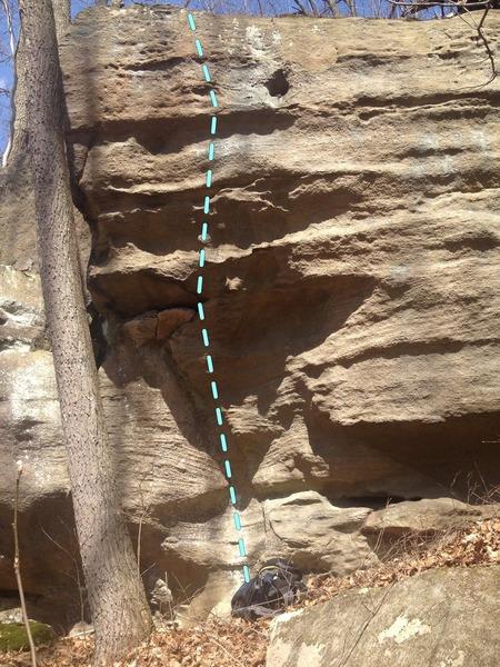 First Ramp<br> 20-25 Feet<br> V4+?