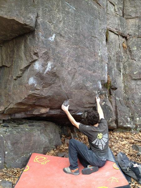 Rock Climbing Photo: The start of Hobama Care