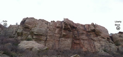 """Rock Climbing Photo: Overview of """"central"""" section of Duncan'..."""