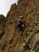 Rock Climbing Photo: leading No Time to Deviate